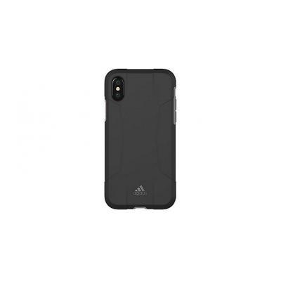 Adidas mobile phone case: Apple iPhone X, Cover - Zwart, Grijs
