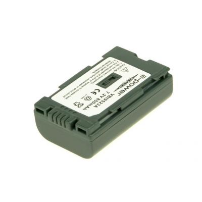 2-power batterij: Camcorder battery, 1100 mAh, 7.2 V - Zwart