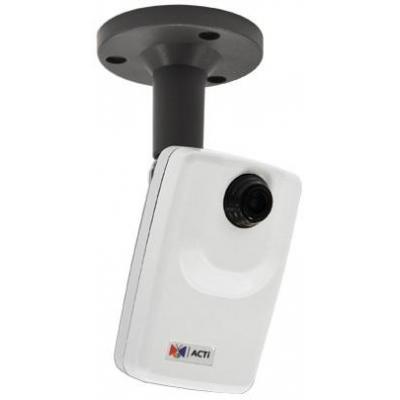"Acti beveiligingscamera: 1MP, 1/4"" CMOS, 720p, 30 fps, 1/5 - 1/10000 s, Fast Ethernet, PoE, 2.95 W, 140 g - Wit"