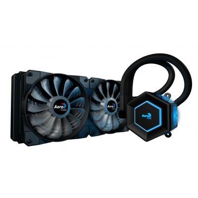 Aerocool water & freon koeling: Intel/AMD, 380W TDP, 2500rpm, 8.4W, 2x 120mm, 600-1800rpm, 10.5-31.8dB - Zwart
