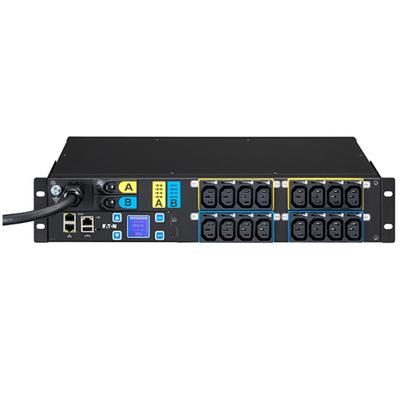 Eaton G3 Switched ePDU, 16 x C13 Out, 309-32A In, 230V, 2U Energiedistributie - Zwart