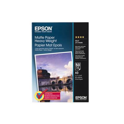 Epson Matte Paper Heavy Weight, DIN A3, 167g/m², 50 Vel Papier - Wit
