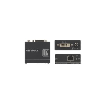 Kramer Electronics Kramer PT-572HDCP+ DVI twisted pair Rec. AV extender - Zwart