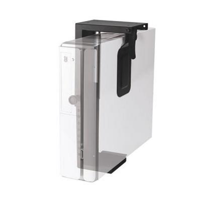 Newstar cpu steun: Under Desk PC Mount (Suitable PC Dimensions - Height: 20-36 cm / Width: 5-10 cm) - Black - Zwart