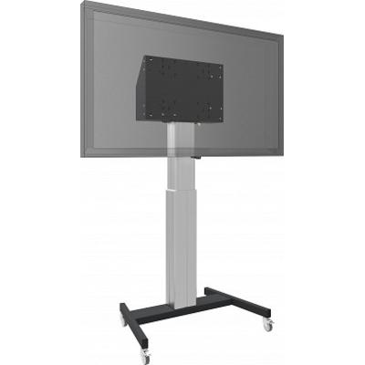 SmartMetals Vloerlift XL op wielen voor (touch-) flatscreens max. 120 kg ZWART TV standaard - Zwart, Grijs