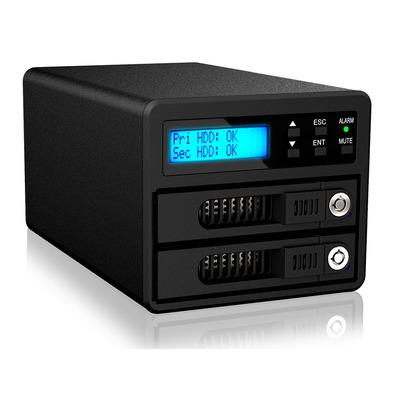 """Raidon 2x 2.5""""-3.5"""" SATA HDD/SSD, RAID 0/1, e-SATA(6G), USB3.0(5G) , Anti-theft cord slot, 60W, 2.75kg ....."""