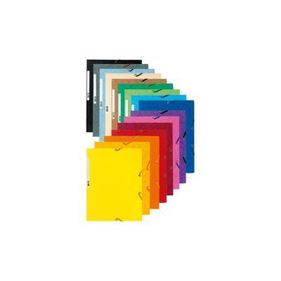Exacompta map: Elastomappen versterkt karton 3 kleppen, A4, 10 Kleuren geassorteerd - Multi kleuren