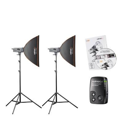 Walimex photo studio equipment set: Excellence Studioset Artist 150 - Zwart, Zilver, Wit