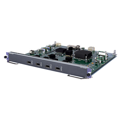 Hewlett packard enterprise netwerk switch module: 7500 4-port 10GbE XFP Extended Module