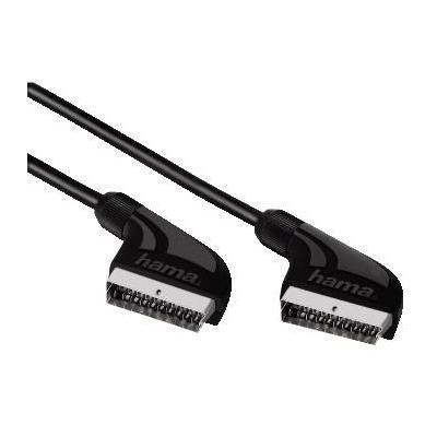 Hama : Connecting Cable Scart Plug - Scart Plug, 1 m - Zwart