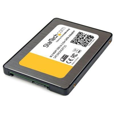 Startech.com interfaceadapter: M.2 SSD naar 2,5 inch SATA III-adapter   NGFF Solid-State Drive Converter met .....