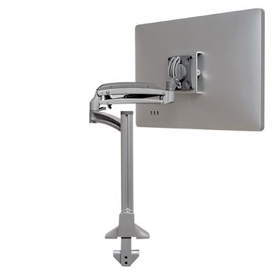 Chief Dynamic Column Mount, Reduced Height, Aluminum, +75°, -10° Tilt, Silver Monitorarm - Zilver
