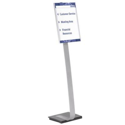 Durable naambord : INFO SIGN stand A3 - Zilver