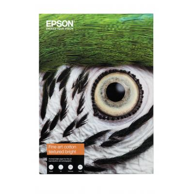 Epson creatief papier: Fine Art Cotton Textured Bright A3+ 25 Sheets