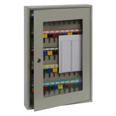 Phoenix sleutelkast: 50 Hook Key, 550 x 380 x 80 mm, Key Lock, 7 kg, Light Grey - Grijs
