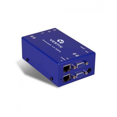 Vertiv : Avocent LongView dubbele VGA, USB, audio, CATx 300M, VK - Blauw