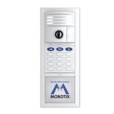 Mobotix deurintercom installatie: Complete Kit No. 3 w / Keypad, Silver - Zilver