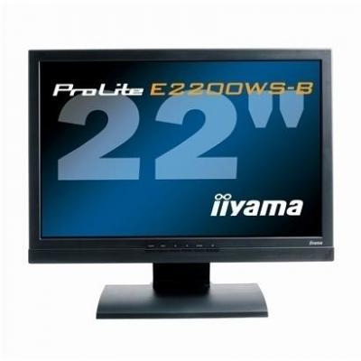 Iiyama monitor: ProLite ProLite E2200WS-B1 - Zwart (Refurbished LG)