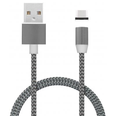 Mobiparts Magnetic USB-C to USB Cable 1.5A Dark Grey 1m USB kabel - Grijs