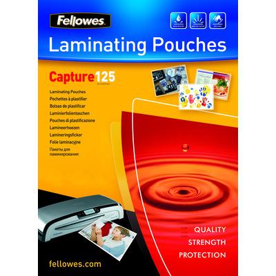 Fellowes 125 micron lamineerhoes glanzend - 75x105mm Laminatorhoes - Transparant