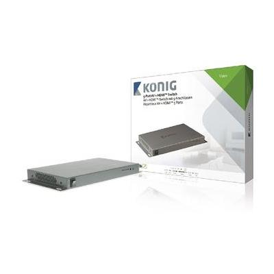 König video switch: 5-poorts AV + HDMI-schakelaar composiet + component + VGA + 2x HDMI-ingang - HDMI-uitgang .....
