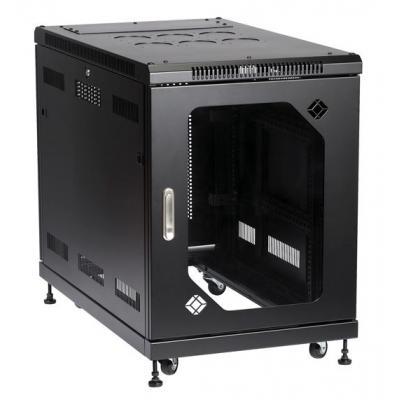 Black Box Select Server Cabinet with Tempered Glass Door, 15U Rack - Zwart