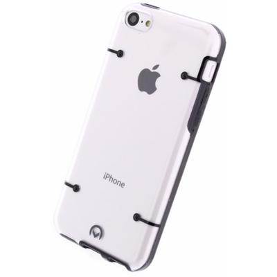 Mobilize Hybrid Case Transparent Apple iPhone 5C Black Mobile phone case - Zwart, Transparant