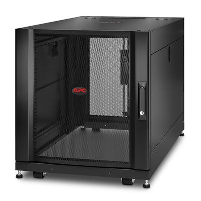 """APC NetShelter SX AR3103 12U 600mm(b) x 1070mm(d) 19"""" IT met zijpanelen Rack - Zwart"""