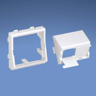 Panduit 45 x 45mm adapter with one 1/2 size sloped shuttered module insert Patch panel