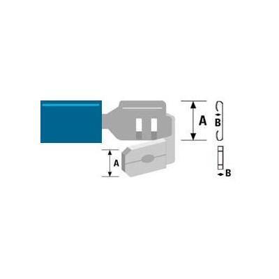 Valueline Piggy Back, PVC, Blue Kabel connector - Blauw