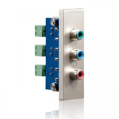 PureLink ID-WP-MOD-RB - connection plate component (3xChinch), 22x68 mm Wandcontactdoos - Metallic