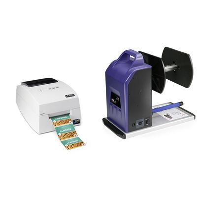 DTM Print LX500e + RW-4 Labelprinter - Cyaan, Magenta, Geel