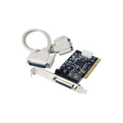 Longshine PCI-I/O Card w/ Power, RS-232, 3.3V/5V Interfaceadapter - Zwart,Grijs