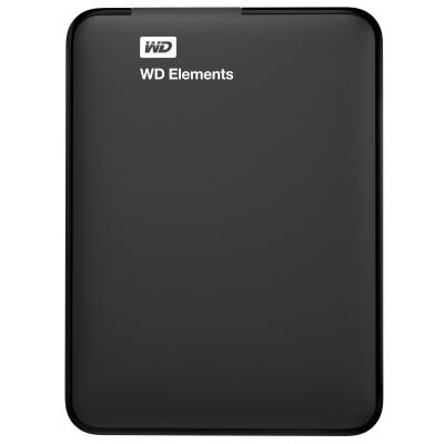 Western digital externe harde schijf: Elements Portable - Zwart
