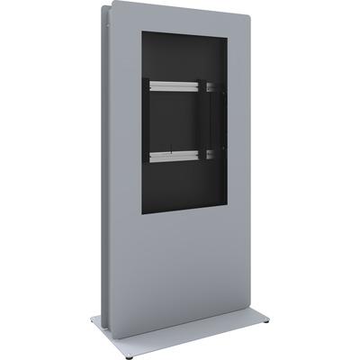 SmartMetals SmartKiosk Portrait voor 60 inch flat panels TV standaard - Grijs, Zilver
