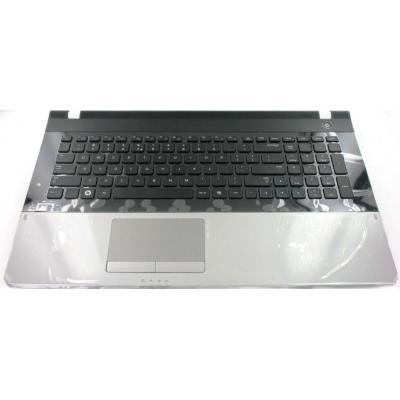 Samsung Top Case, Silver With Keyboard (Dutch) notebook reserve-onderdeel - Zwart, Zilver
