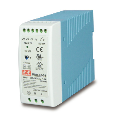 PLANET 40W 24V DC Single Output Industrial DIN-rail Power Supply (-20 ~ 70 degrees C) Power supply unit - .....