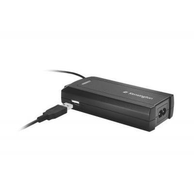 Kensington netvoeding: Laptop Power Adapter met USB Lenovo/IBM - Zwart