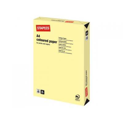 Staples papier: Papier SPLS A4 80g kanarie geel/pak 500v