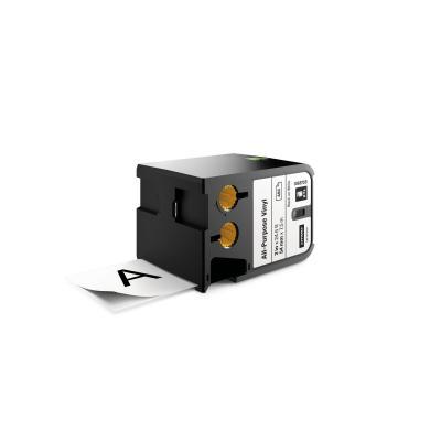 "Dymo labelprinter tape: XTL 2"" (54 mm) universeel vinyl, zwart op wit"