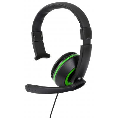 Gioteck game assecoire: Gioteck, XH-50 Wired Mono Headset (Black / Green)  Xbox One