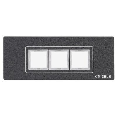Extron CM-3BLB Drukknop-panel - Zwart