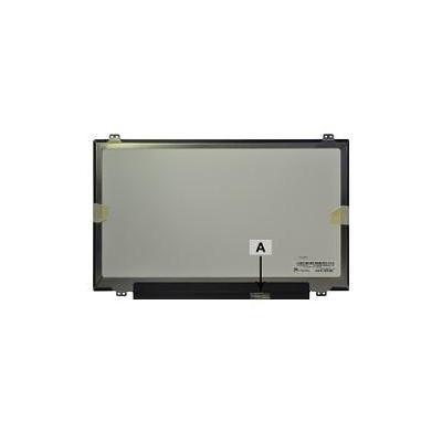 """2-power notebook reserve-onderdeel: 35.56 cm (14.0 """") FullHD 1920x1080 LED Matte - Zwart, Grijs"""