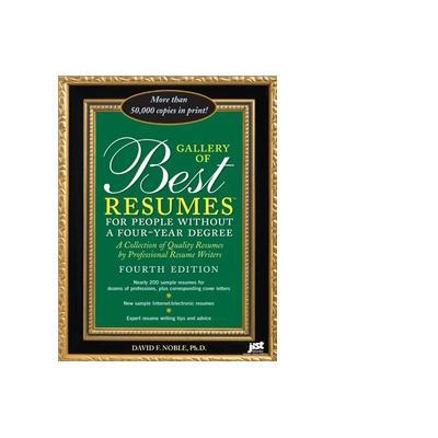 Jist publishing algemene utilitie: Gallery of Best Resumes Without a Four-Year Degree - eBook (EPUB)