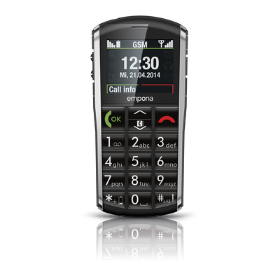 Emporia mobiele telefoon: PURE - Zwart, Grijs
