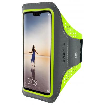 Mobiparts Comfort Fit Sport Armband Huawei P20 Lite Neon Green Mobile phone case - Groen