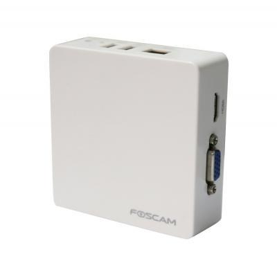 Foscam beveiligingscamera: FN3004H-W - HD Mini Netwerk Video Recoder (NVR) 4-kanaals (White)