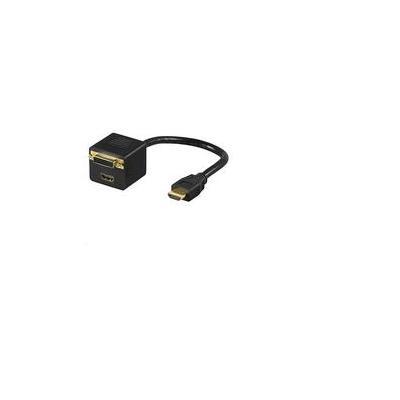 Microconnect HDMI 19 - DVI 24+1 - HDMI - Zwart