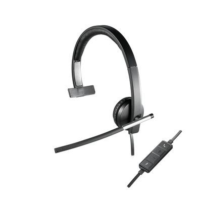 Logitech H650e Headset - Zwart, Grijs