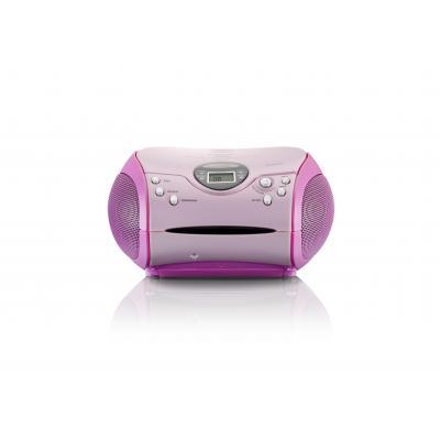 Lenco CD-radio: SCD 24 MP3 PINK - Roze
